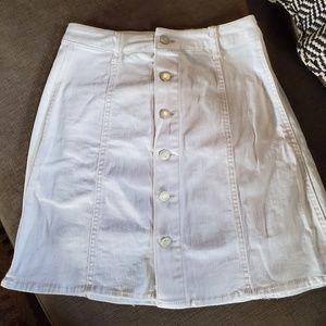 Mossimo White Denim Skirt